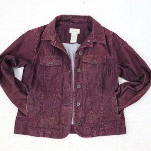 L.L. Bean Jackets & Coats - L.L.Bean   Burgundy Corduroy Jacket